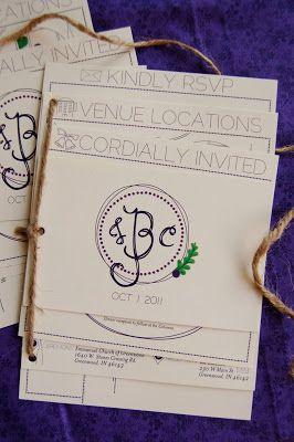 Fall Wedding Invitation Booklet C J Turquoise Feathers Studio