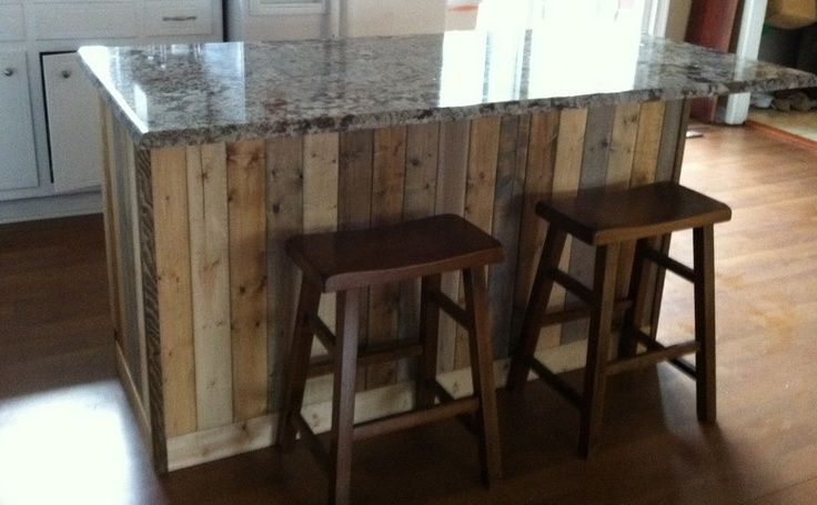 div kitchen island diy - barn board kitchen island For the Home