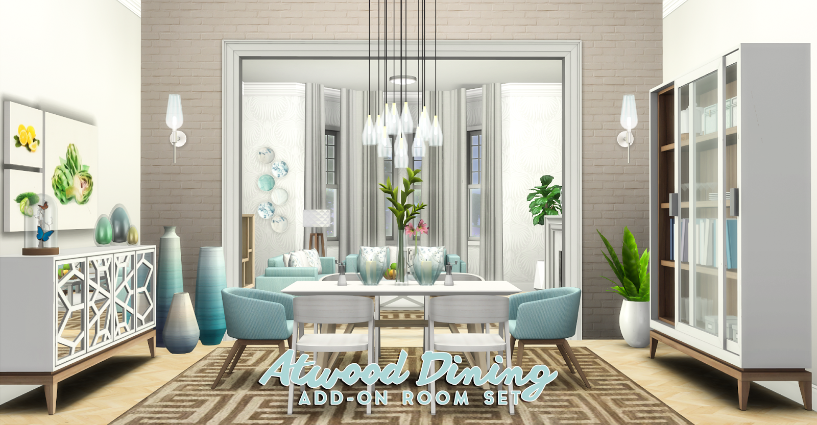 Simsational Designs Atwood Dining Sims 4 Kitchen Sims 4 Cc Furniture Sims 4