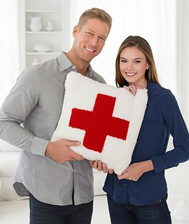 Red Heart offers this pattern to honor the Red Cross and their tremendous efforts to alleviate human suffering throughout North America. Visit redheart.com/redcross to learn more.