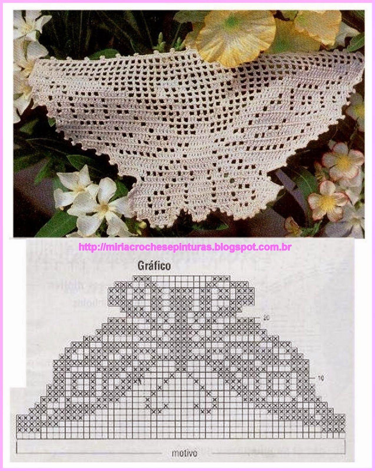 Barrados De Croche Libelulas E Borboletas N 481 Barrados De