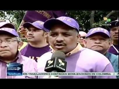 Multitudinaria #marcha por el Día de #Trabajador en #Venezuela