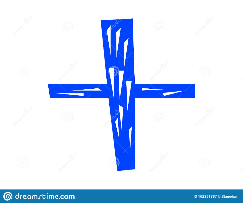 Illustration About Vector Blue Simple Icon Of A Wooden Cross Symbol Isolated On White Background Illustration Of White H Blue Cross Cross Symbol Wooden Cross