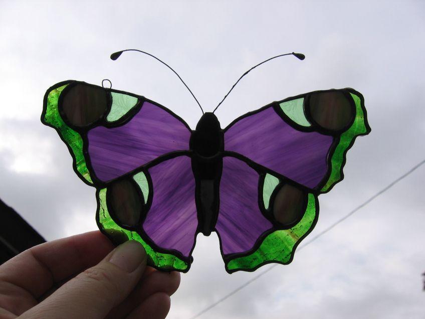 Butterfly-Purple & Green