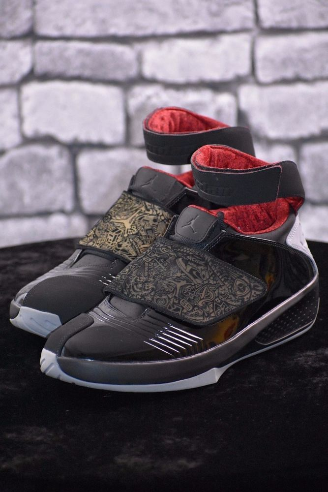 cbefb31d84a7 NIKE MEN S AIR JORDAN 20 XX RETRO BLACK STEALTH VARSITY RED STYLE SZ 13   Nike  Walking