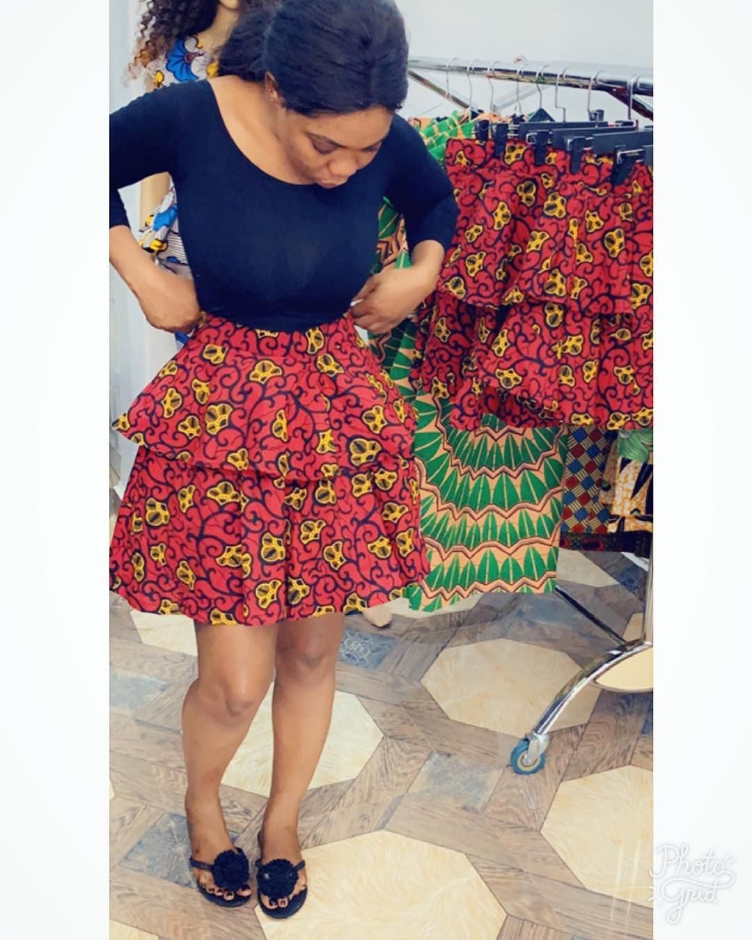 Free shipping Ankara dresses Ankara flare skirt