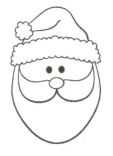 Santa Face Template Printable Christmas Stencils Christmas