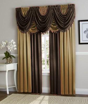 Hyatt Curtain Set Brown Gold Curtains Black Gold Bedroom