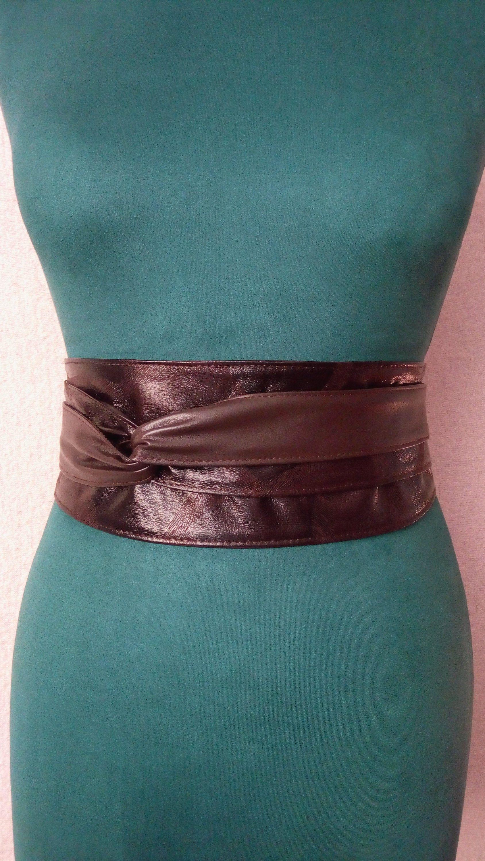 women's Obi belt (328) , brown wide belts for women , Sash