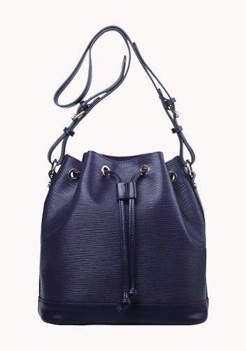Josie Calf Leather Bucket Bag Violet