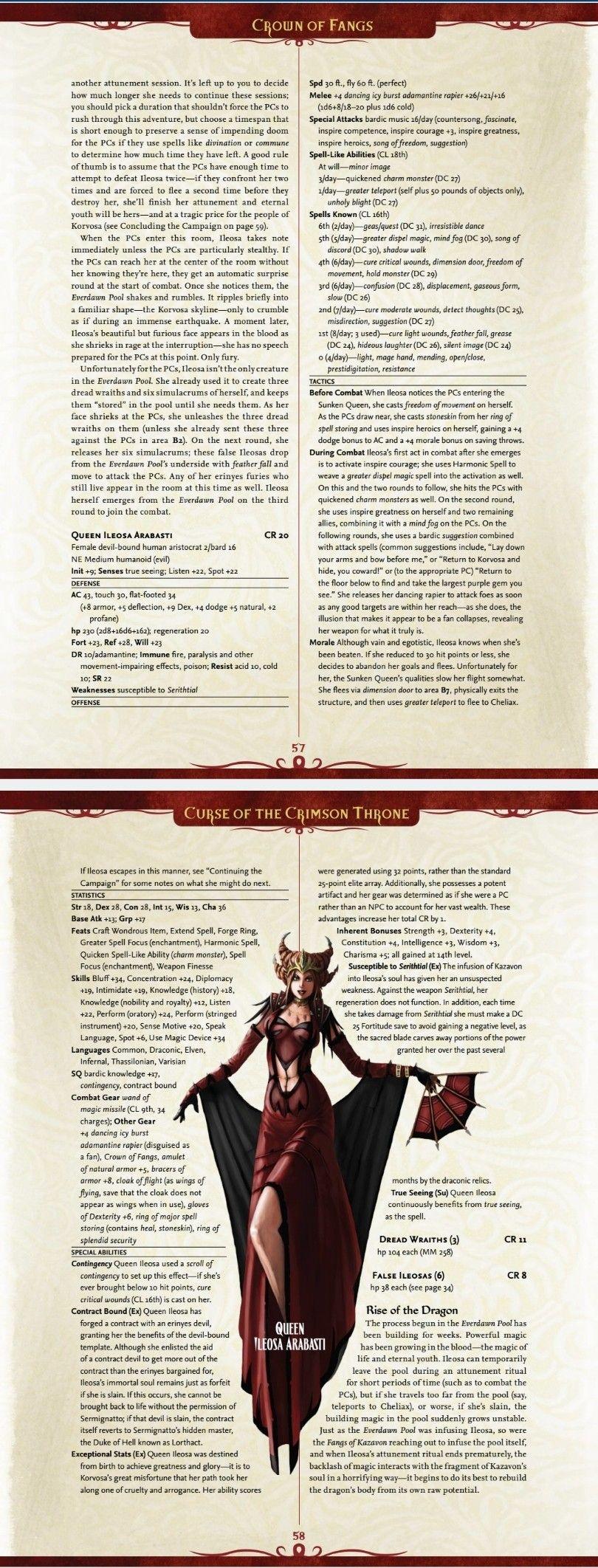 Queen Ileosa Arabasti (Curse of the Crimson Throne