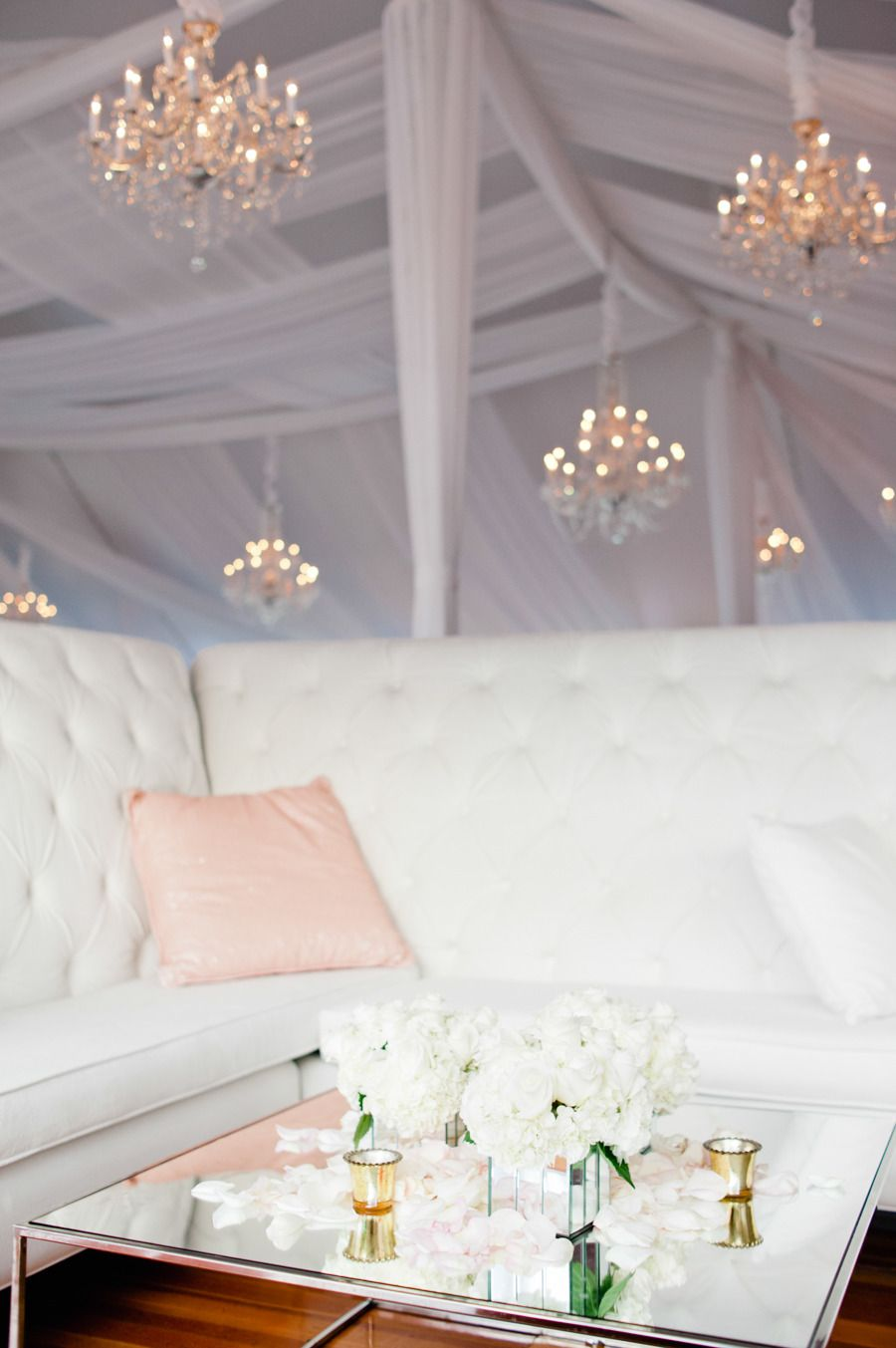 Wedding decoration ideas for bedroom  Old Hollywood Glamour Ocean House Wedding  Ocean house Hollywood