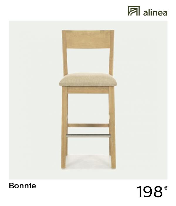alinea : bonnie chaise de bar haute en chêne massif chaises