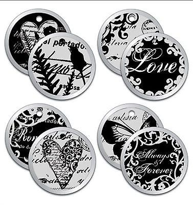 Christine Adolph ELEGANCE (4) METAL-RIMMED TAGS scrapbooking CLOSE-OUT SALE!