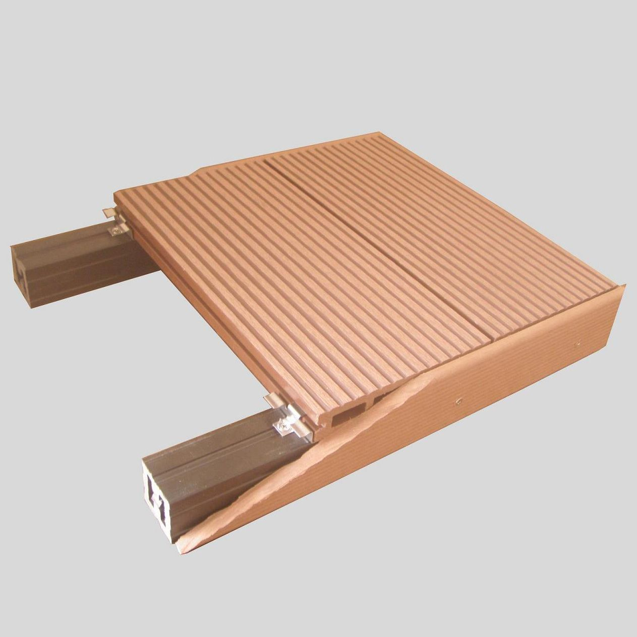 Outdoor waterproof wood plastic composite decking wpc for External timber decking