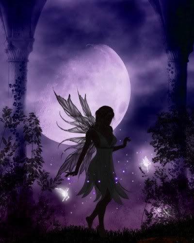 Dark Fairy With Purple Moon Dark Fairy Fairy Art Moon Fairy