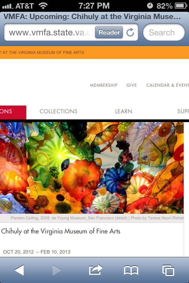 Excited about #chihuly #vmfa