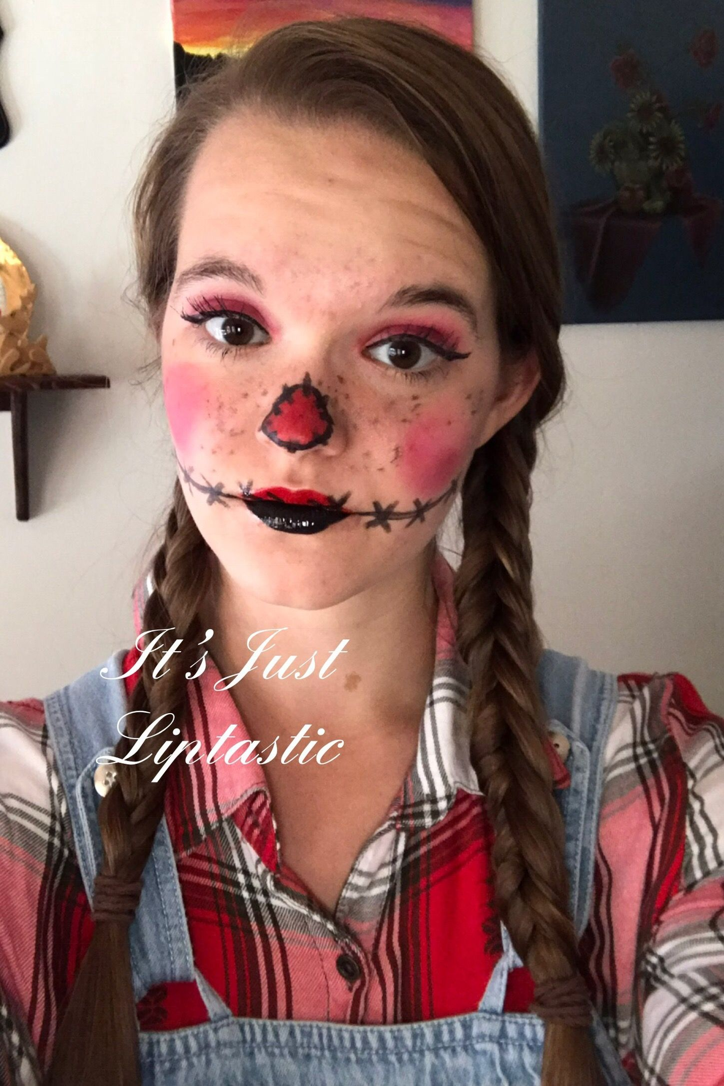 Scarecrow Halloween Makeup. Products Used Dewey Makesense