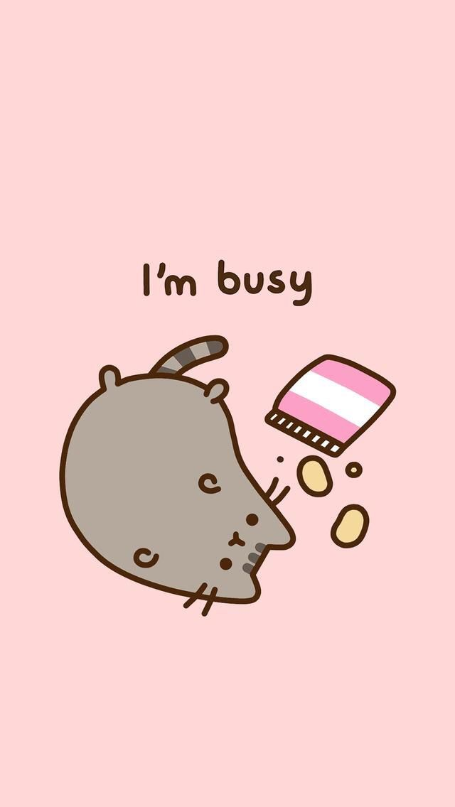 busy eating chips and doing nothing. Pusheen cat, Cat