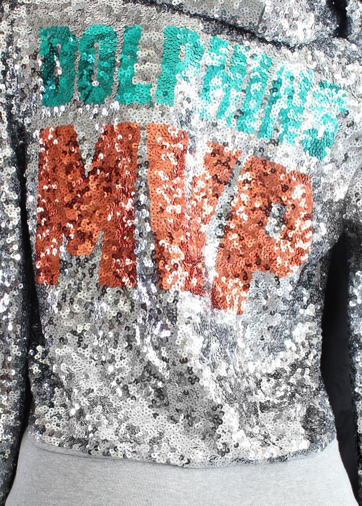 finest selection 84a29 2f69d Victoria's Secret PINK Hoodie Miami Dolphins Bling Sequin ...