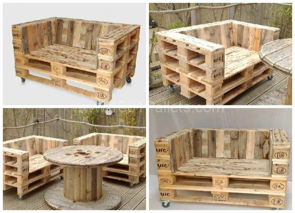 Muebles jardín hechos con pallets ECOIDEAS Pinterest Jardín y