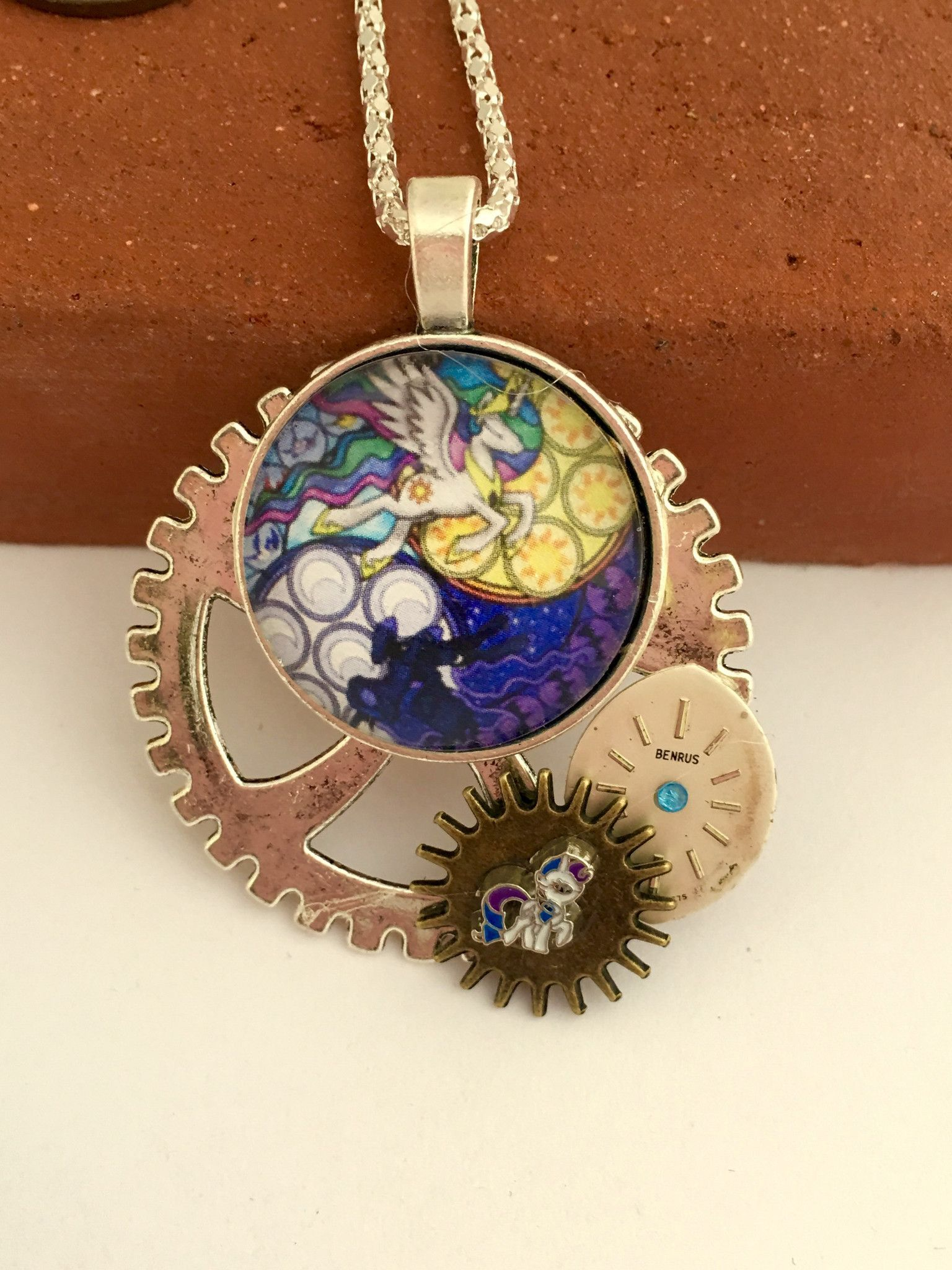 My little pony brony inspired steampunk pendants pony times my little pony brony inspired steampunk pendants mozeypictures Gallery