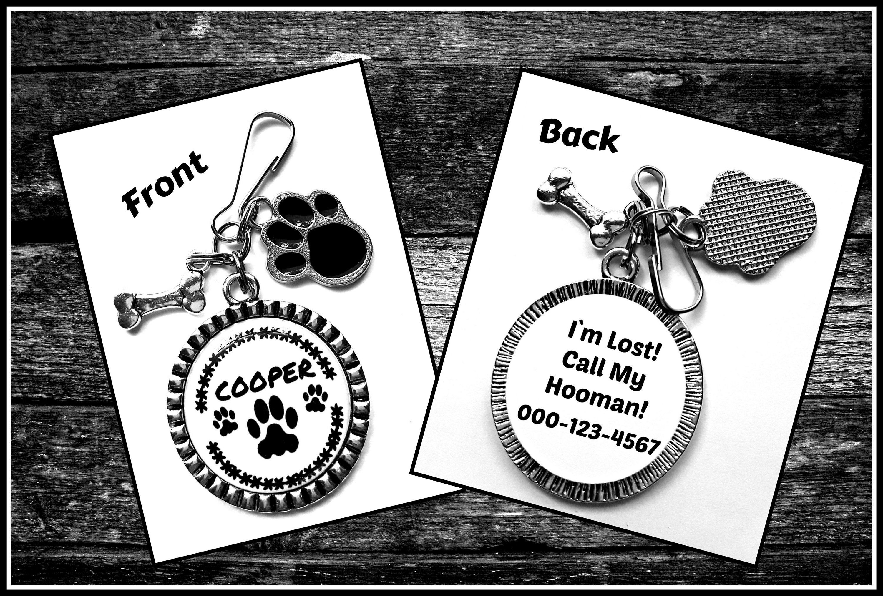 Dog, Cat Pet Id Tags With Name and Phone Number, With
