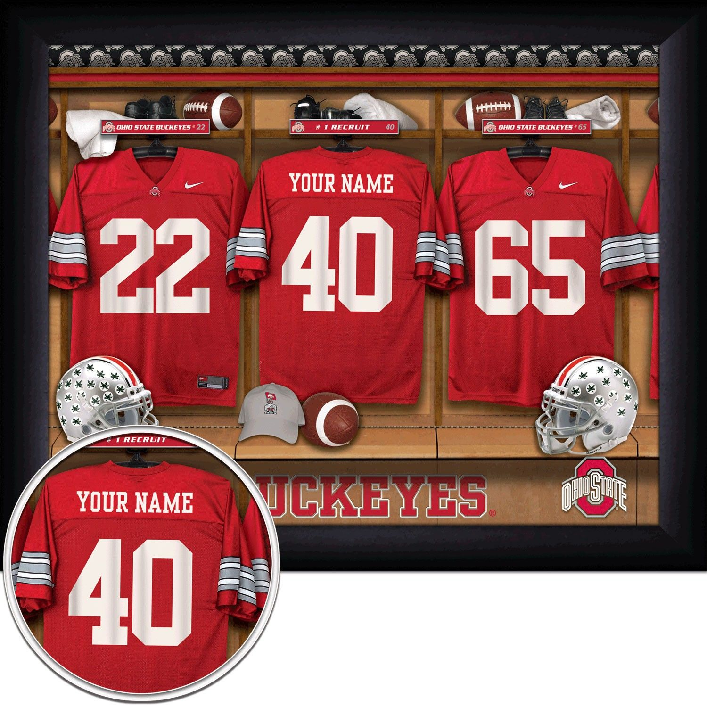 Ohio State Buckeyes Personalized Framed Locker Room Photo