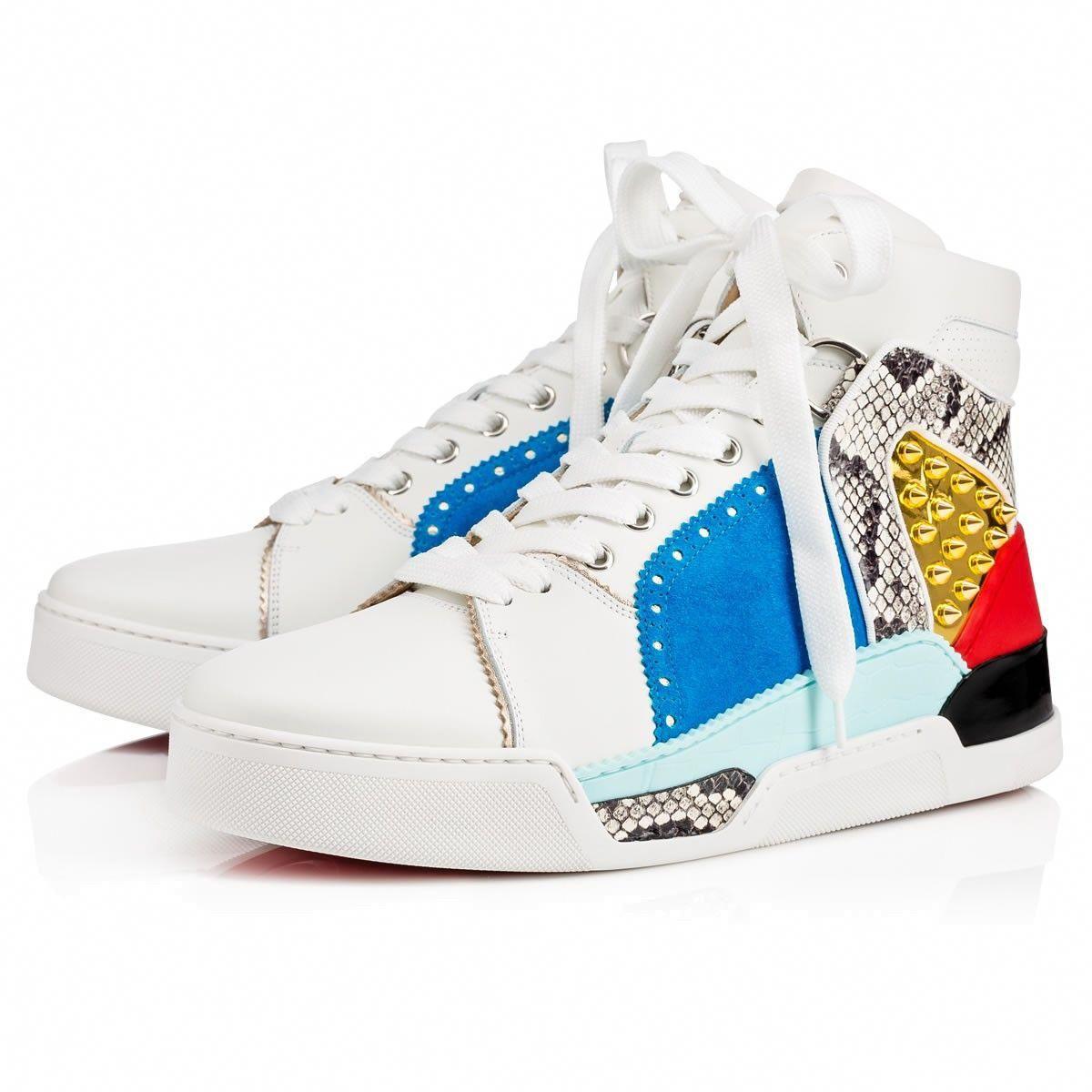ba677667033 CHRISTIAN LOUBOUTIN Loubikick Flat Latte/Roccia Leather - Men Shoes ...