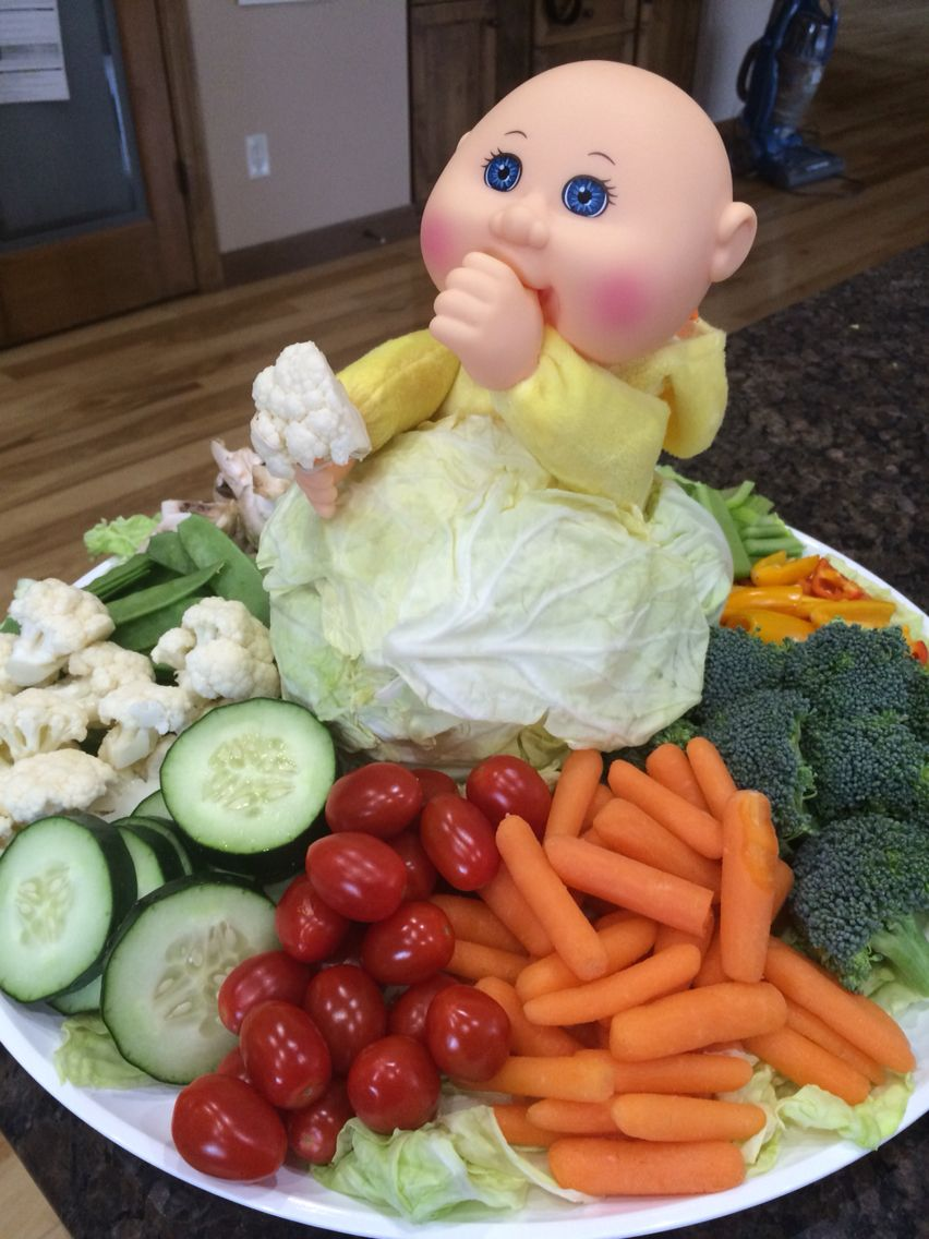 Amazing Cabbage Patch Veggie Tray For Gender Reveal/baby Shower I Made For My Niece  | My Own Creations! | Pinterest