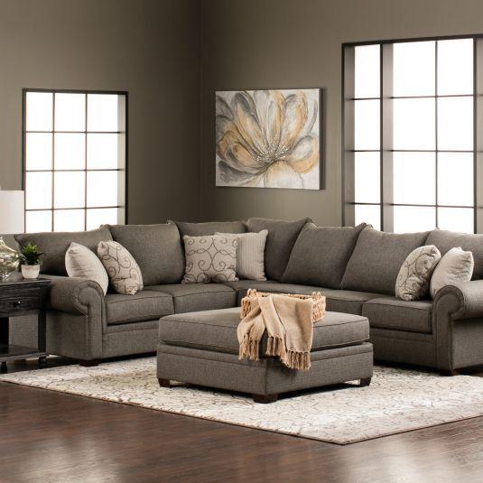 Shop For Living Room Furniture: Keaton LAF Sofa & 1 Arm RAF Sofa In Gray