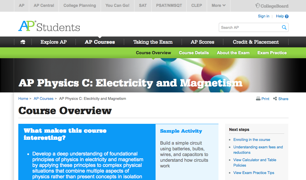 Pin by GeorgetownX: AP Physics C on Online Resources for AP
