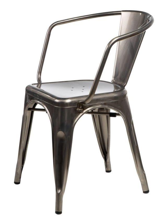 Krzesło Metalove Arms graphite - MIA-home-passion - Meble