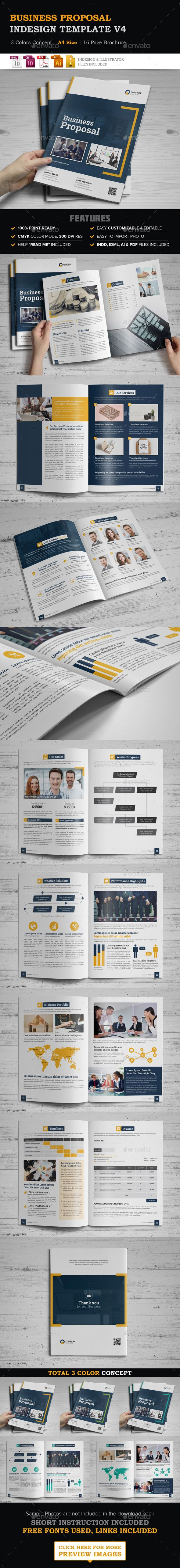 Business Proposal Template Vector Eps Indesign Indd Ai Illustrator