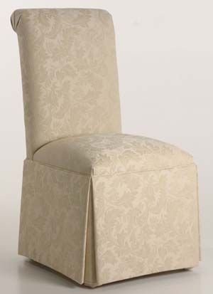 Scroll Back Parson Chair With Kick Pleat Skirt Parsons Chairs Parsons Dining Chairs Buy Chair