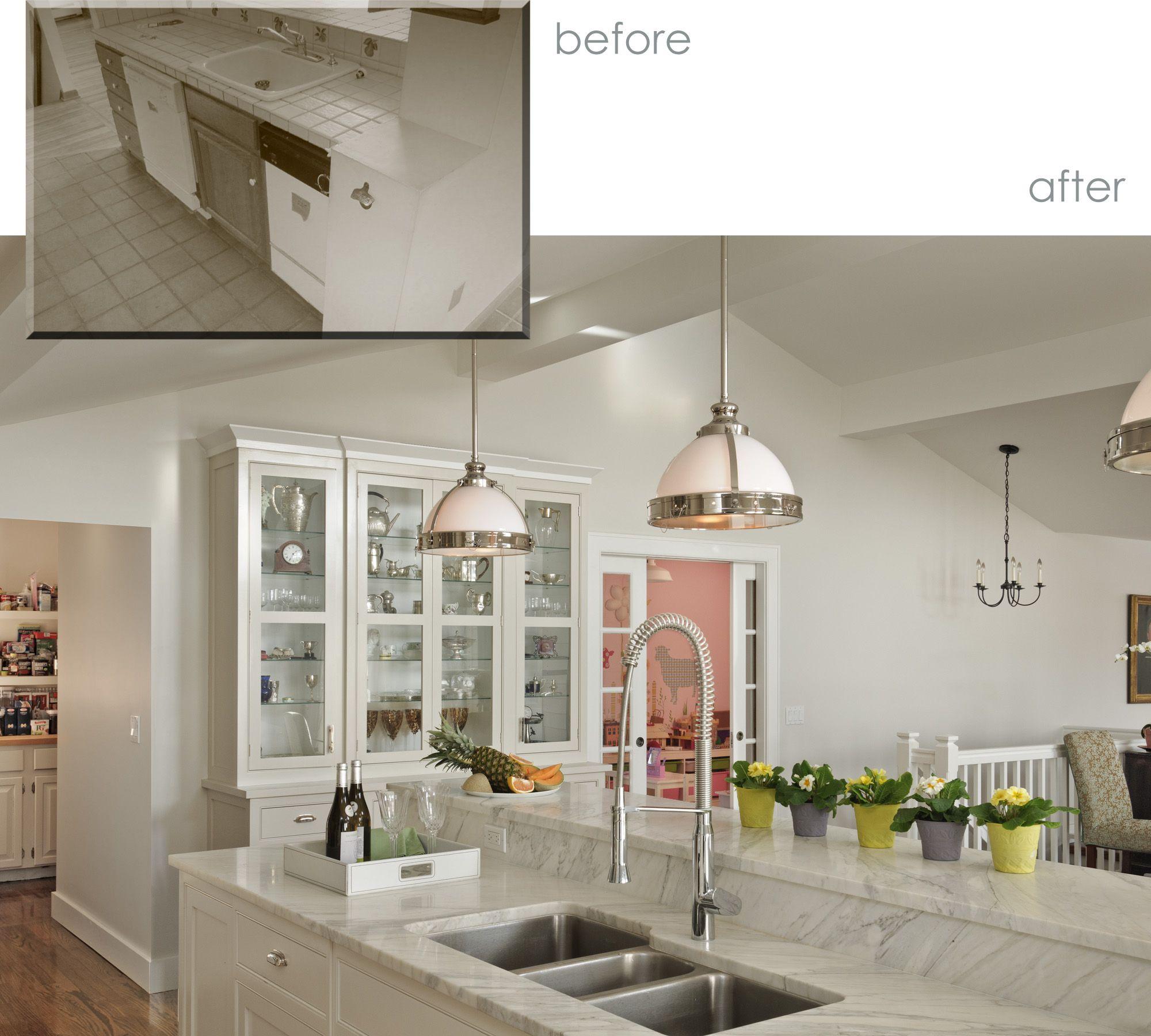 Kitchen Island Before And After Kitchen Litchfield County White Kitchen