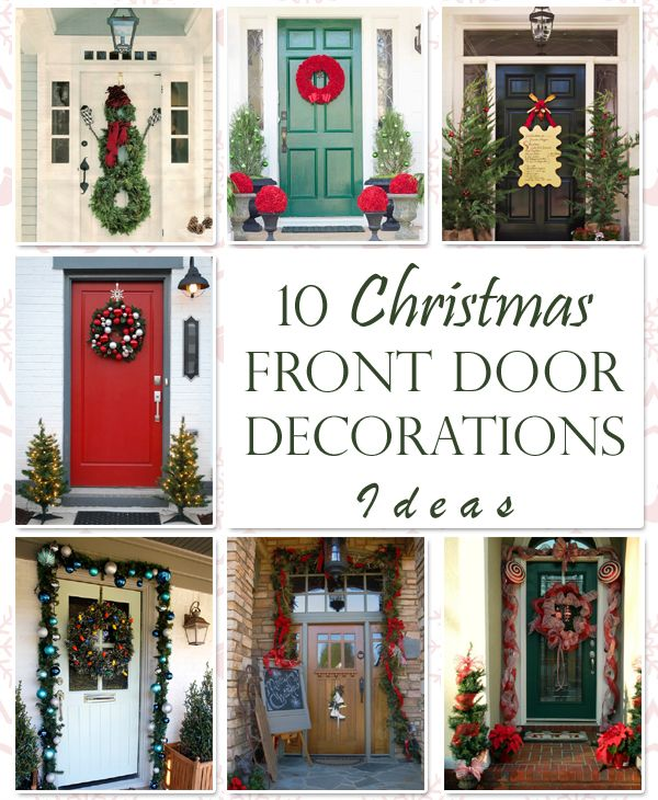 10 Unique Christmas Front Door Decorations Ideas christmas