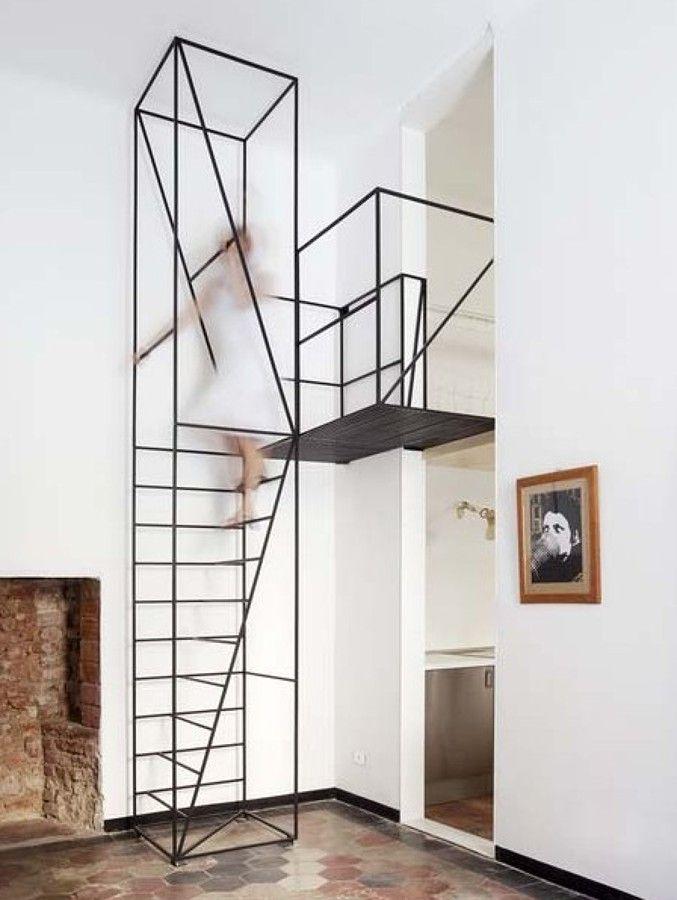 Escalera minimalista huyfu Pinterest Escaleras minimalistas