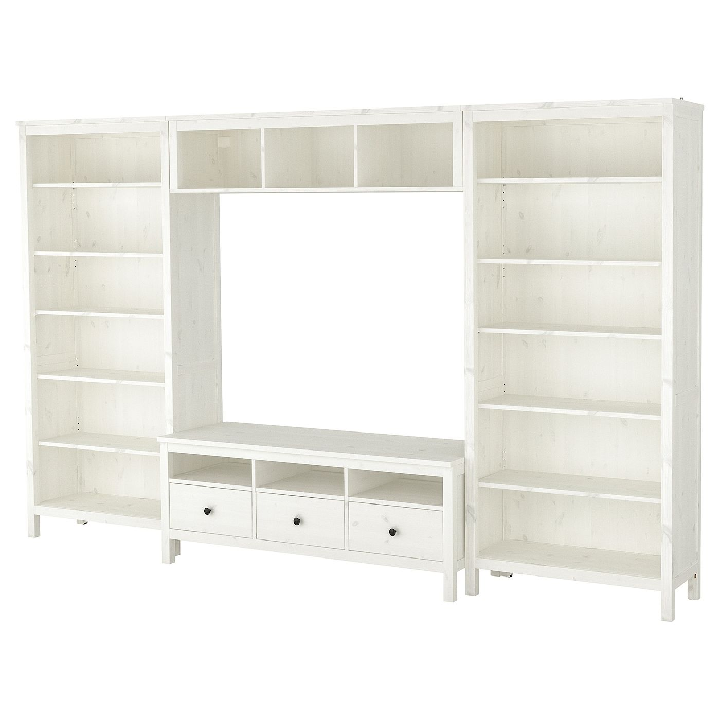 Tv Storage Combination White Stain 128 3 8x77 1 2 In 2019 Tv
