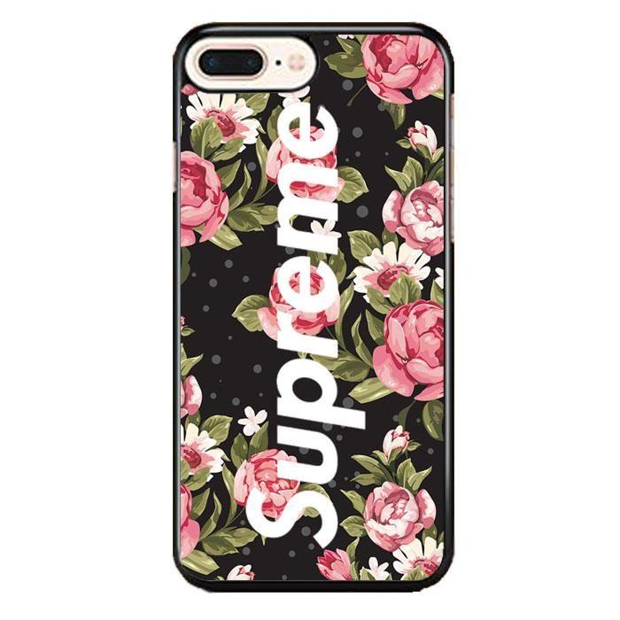 Supreme Flower Black Iphone 8 Plus Case Samsung Galaxy S7 Edge Cases Black Iphone 7 Plus Black Iphone 7