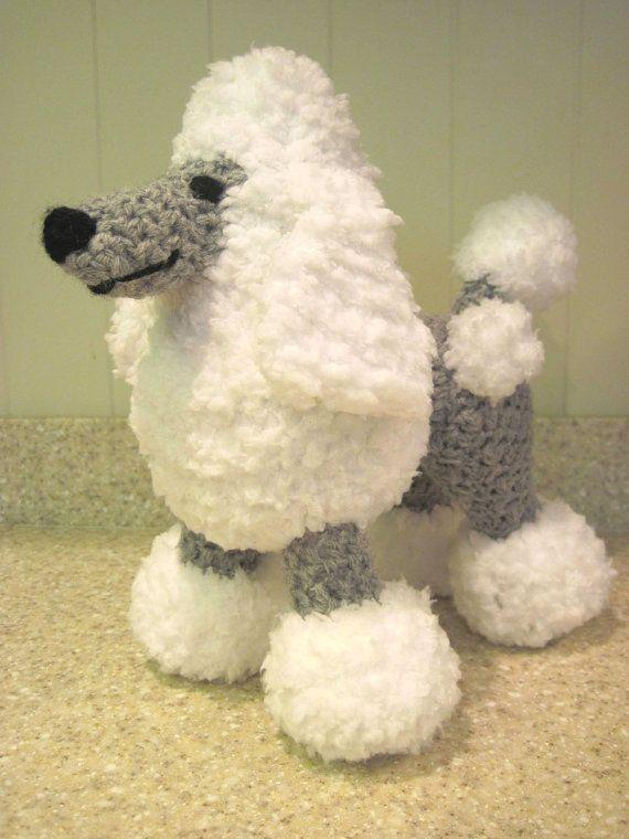 Crocheted Poodle Stuffed Animal Pattern - Digital Download - ENGLISH ...