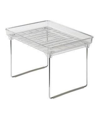 Small Clear Stackable Cabinet Shelf | Stacking shelves ...