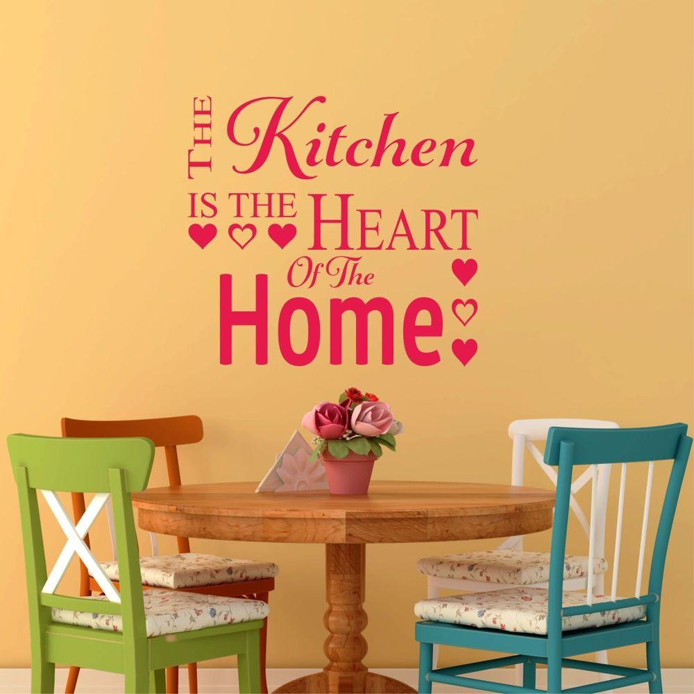 The kitchen is the heart of the home- Wall Art Decal Stickers ...