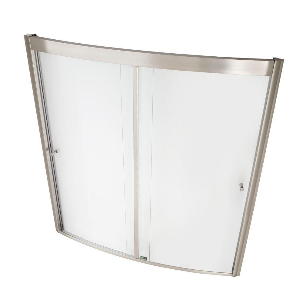 American Standard Ovation 60 in. x 58 in. Framed Sliding Tub/Shower ...