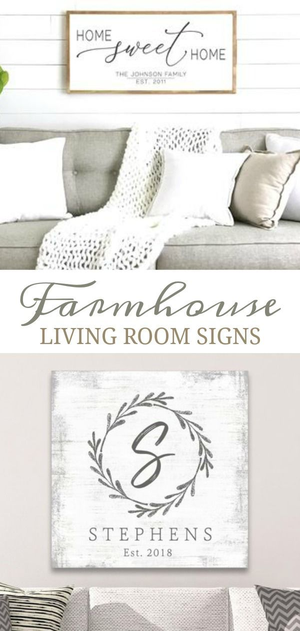 Photo of Farmhouse Living Room Signs