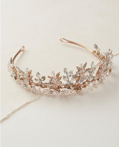 The Rebecca Delicate Swarovski Crystal Crown