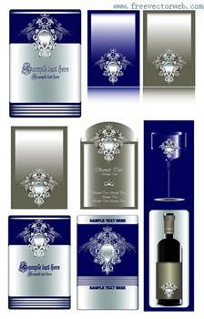 Luxury label vector