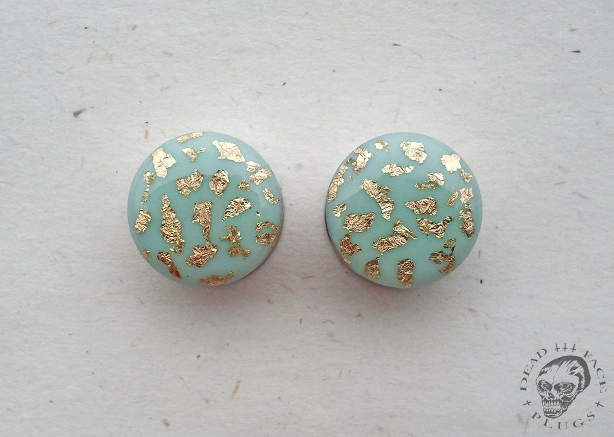 Inspiration Dezigns Teal Adorable Hibiscus Flower Single Flared PlugsSold as Pairs