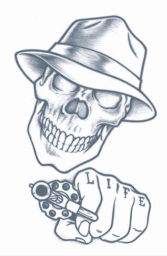 Tinsley Stick Up Skull Prison Tattoo Dons Hobby Shop Mine