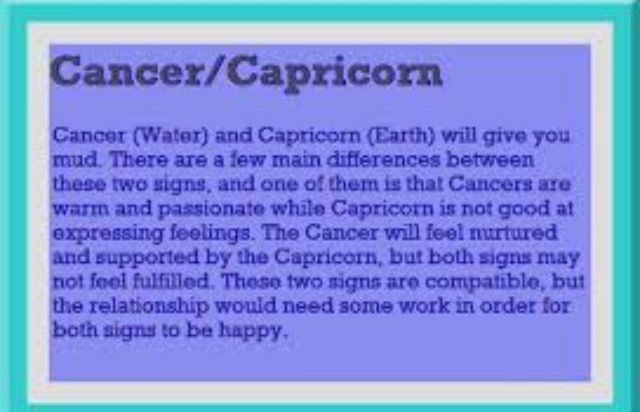 What horoscope matches with cancer